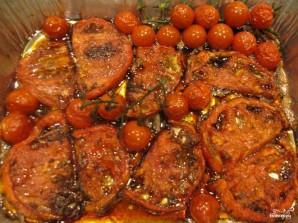 Салат из моцареллы и запечённых помидоров - фото шаг 4