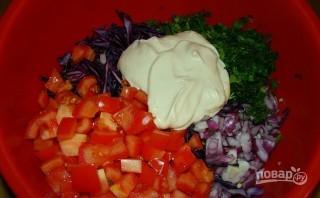 Салат из краснокачанной капусты - фото шаг 5