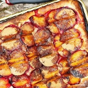 Открытый сливовый пирог - фото шаг 7