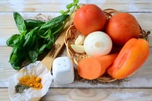 Томатный суп из печки с базиликом - фото шаг 1