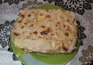 Яично-мясной тортик со вкусом шавермы - фото шаг 15