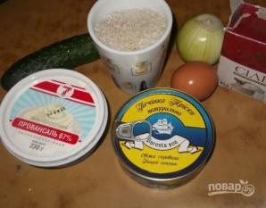 Салат из печени трески с рисом - фото шаг 1