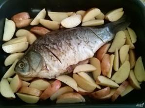 Сазан с овощами в духовке - фото шаг 3