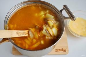 Грибной суп с рисом и яйцом - фото шаг 9