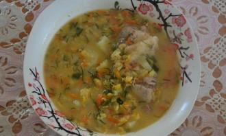 Гороховый суп со свининой в мультиварке - фото шаг 4