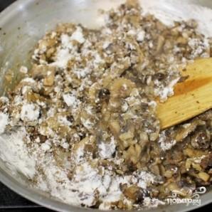 Картофельная запеканка с фаршем и грибами - фото шаг 4