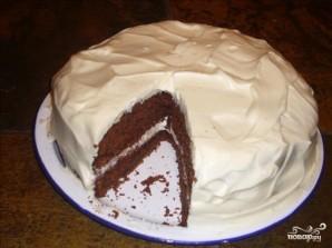 Шоколадный торт с белым кремом - фото шаг 6