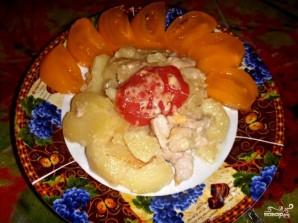 Куриное филе с картошкой в мультиварке - фото шаг 11