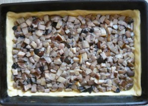 Пирог с грибами и сыром - фото шаг 3
