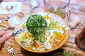 Теплый салат с куриным филе по-тайски - фото шаг 8