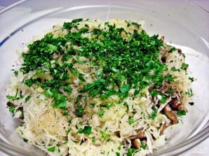 Салат с квашеной капустой - фото шаг 7