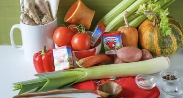 Тыквенный суп-пюре с сыром - фото шаг 1