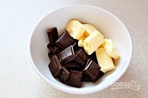 Шоколадный фондан с кофе - фото шаг 2