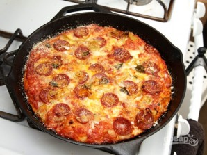 Тесто для пиццы без замеса - фото шаг 7