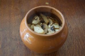 Чанахи с фасолью и грибами - фото шаг 6