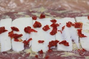Праздничный рулет из свинины с начинкой - фото шаг 2
