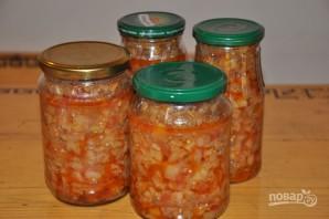 Салат на зиму с баклажанами и помидорами - фото шаг 7