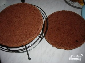 Торт с консервированными персиками - фото шаг 3