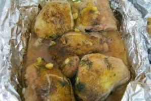 Курица кусочками в фольге - фото шаг 4