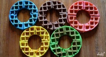 "Вафли ""Олимпийские кольца"" - фото шаг 5"