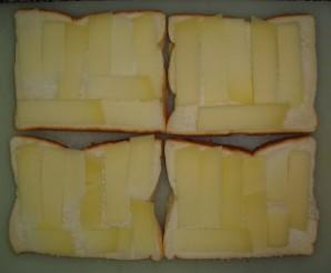 Тосты с сыром и грибами - фото шаг 3
