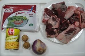 Рагу со шпинатом и горохом - фото шаг 1