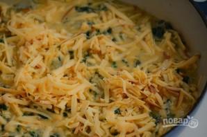 Фриттата с ветчиной, шпинатом и сыром - фото шаг 6