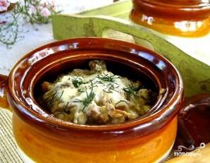 Драники в горшочке с грибами - фото шаг 10