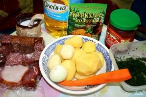 Солянка сборная мясная с картошкой - фото шаг 1