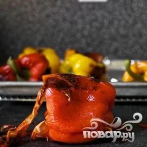 Запеченный болгарский перец с каперсами и Моцареллой - фото шаг 2