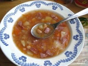 Фасолевый суп с колбасой - фото шаг 10