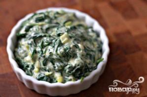 Стейк с грибным соусом и сливочным шпинатом - фото шаг 6
