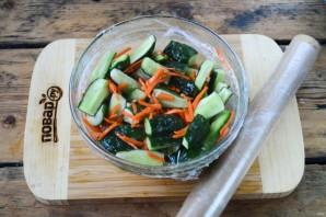 Огурцы по-корейски на зиму (простой рецепт) - фото шаг 6