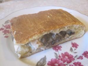 Дрожжевой пирог с курицей и грибами - фото шаг 8