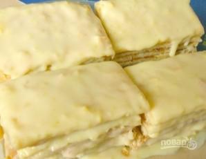 Слоеный торт со сгущенкой - фото шаг 9