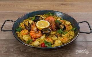 Испанская паэлья с морепродуктами - фото шаг 7
