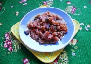 Салат с копченой горбушей - фото шаг 2