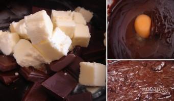 Шоколадные маффины с заварным кремом - фото шаг 3