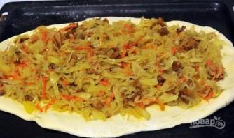 Пирог на кефире с капустой - фото шаг 7