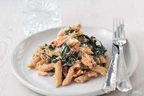 Паста с лососем и шпинатом - фото шаг 5