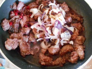 Мясо в гранатовом соусе - фото шаг 4