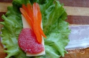 """Закуска """"Колокольчики"""" с сыром и грейпфрутом - фото шаг 3"""