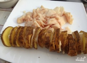 Картофель в фольге на углях - фото шаг 4