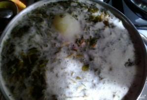 Суп из консервированного щавеля с тушенкой - фото шаг 3