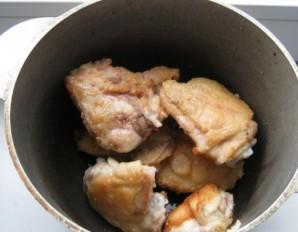Курица с овощами в казане - фото шаг 1