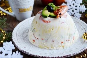 Заливной салат с креветками и авокадо - фото шаг 16