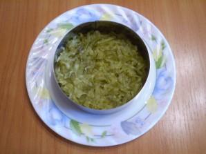 Салат с грибами слоями - фото шаг 5