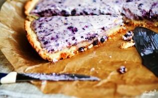 Черничный пирог с творогом - фото шаг 8
