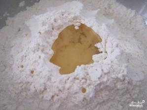 Тесто для вареников с творогом - фото шаг 2