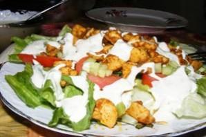 Летний салат с курицей - фото шаг 5